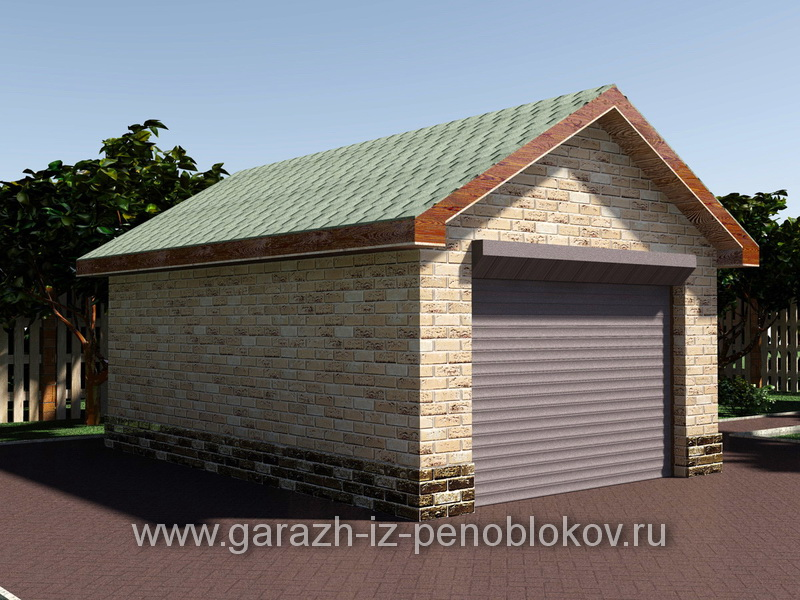 Жилой каркасный гараж