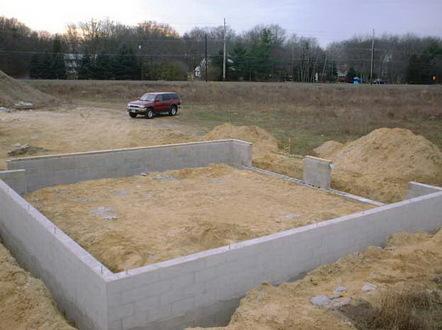 Фундамент под гараж на две машины
