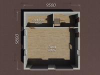 Двухэтажный гараж из кирпича 10х9